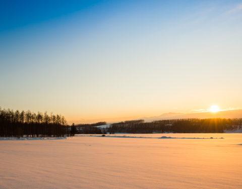 冬の日の入り